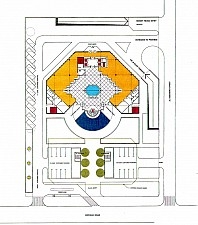 site plan for the Saudi French Bank - Jeddah, Saudi Arabia