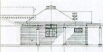 elevation drawing for the King House addition