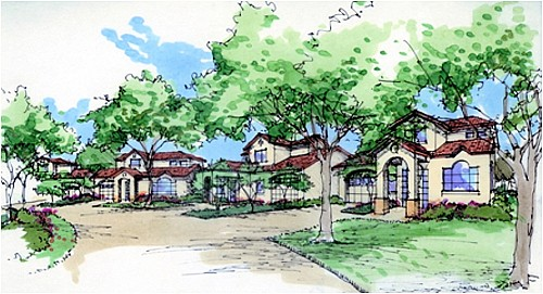 drawing showing details of the Randolph AFB Family Housing project