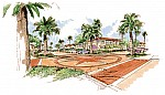 drawing of entrance to the Los Angeles AFB Family Housing project