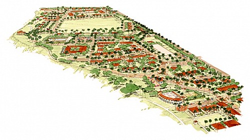 aerial view of Los Angeles AFB Family Housing project